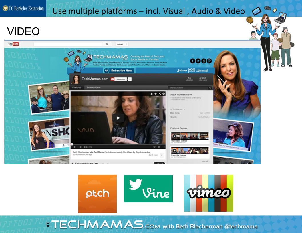 © VIDEO Use multiple platforms – incl. Visual, Audio & Video