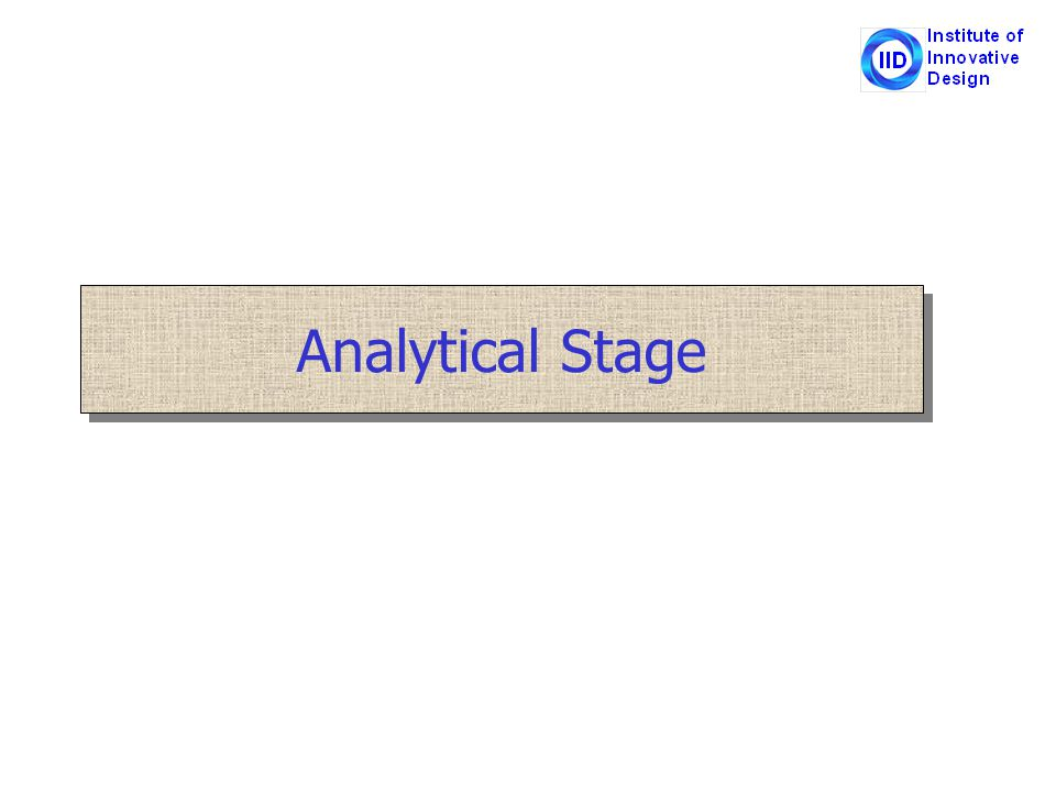 Analytical Stage