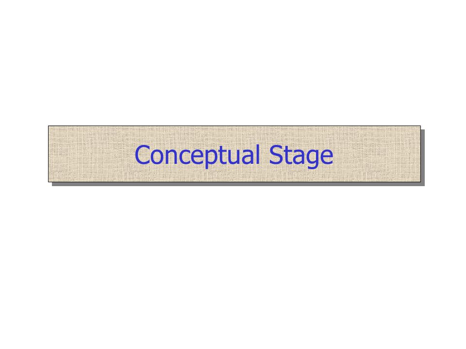 Conceptual Stage