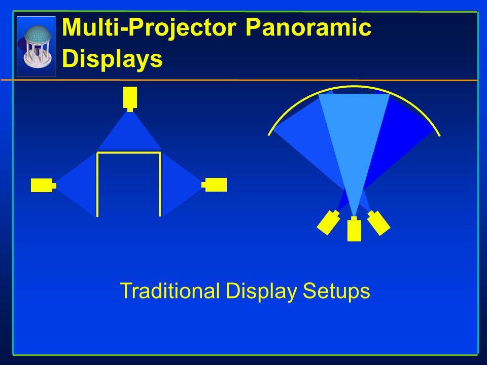 Multi-Projector Panoramic Displays Traditional Display Setups