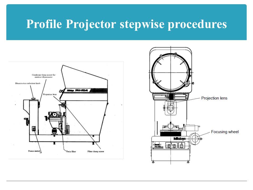 Profile Projector stepwise procedures