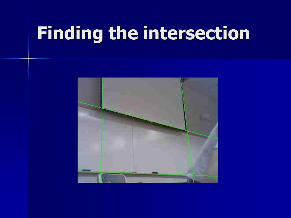 Finding the intersection