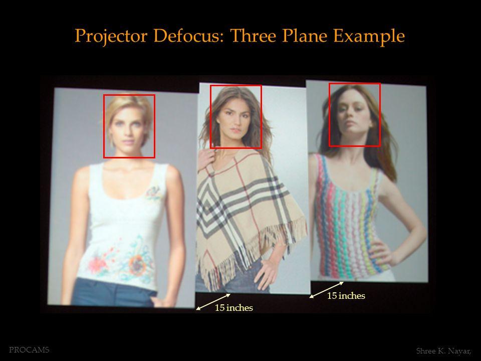 Projector Defocus: Three Plane Example 15 inches PROCAMS Shree K. Nayar,