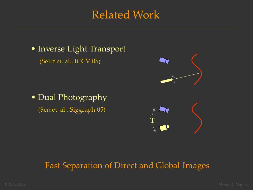Related Work (Seitz et. al., ICCV 05) Inverse Light Transport (Sen et.