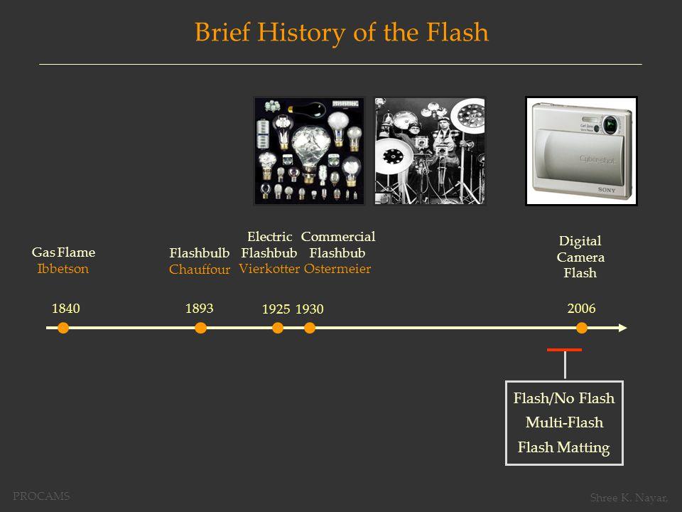 Projector as a Programmable Flash LightingCapture 2D 4D PROCAMS Shree K. Nayar,