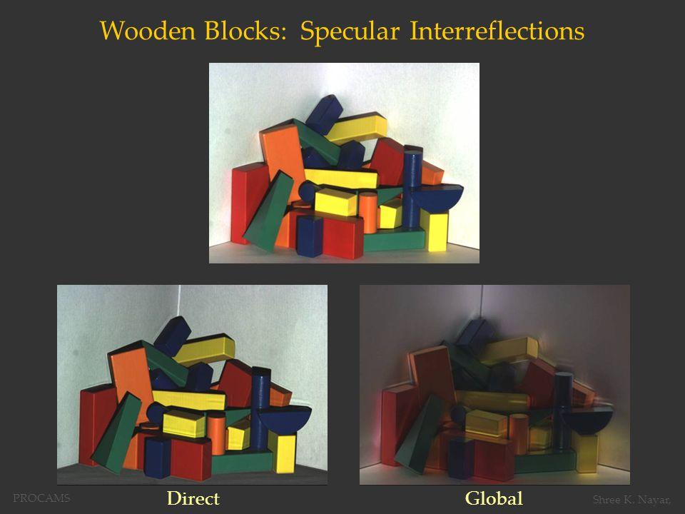 Wooden Blocks: Specular Interreflections DirectGlobal PROCAMS Shree K. Nayar,