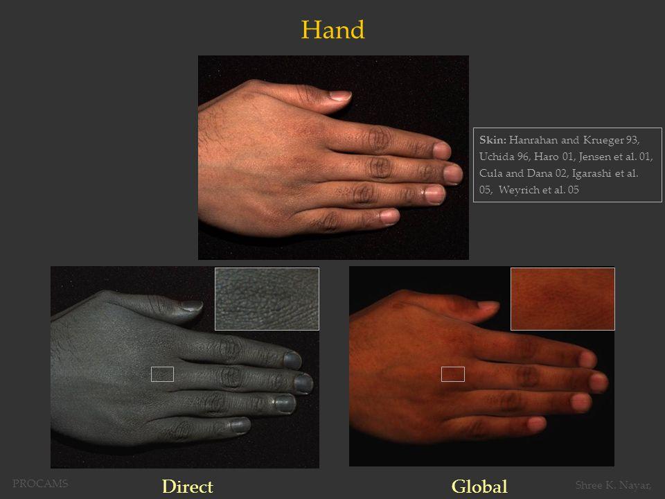Hand DirectGlobal Skin: Hanrahan and Krueger 93, Uchida 96, Haro 01, Jensen et al.