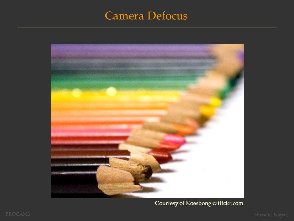 Courtesy of Koesbong @ flickr.com Camera Defocus PROCAMS Shree K. Nayar,
