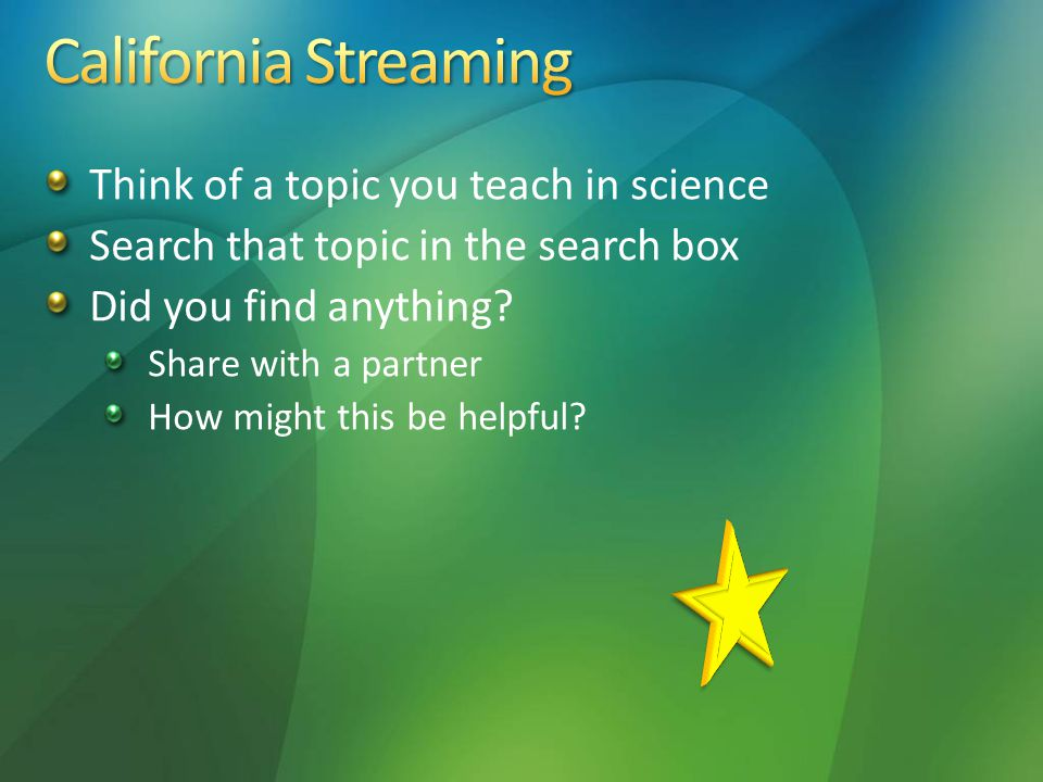 Think of a topic you teach in science Search that topic in the search box Did you find anything.