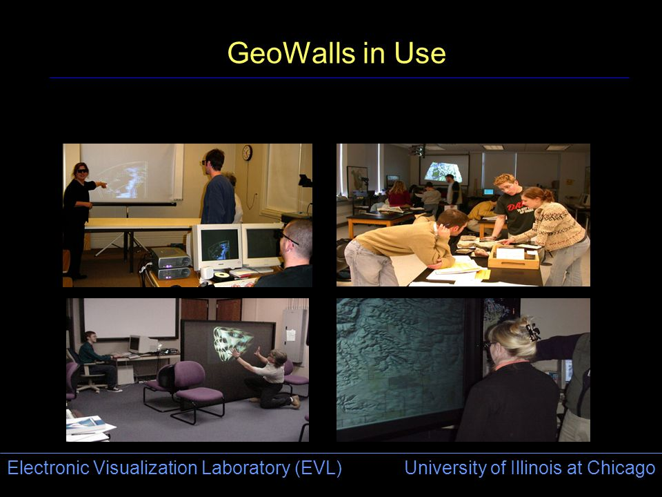 Electronic Visualization Laboratory (EVL) University of Illinois at Chicago GeoWalls in Use