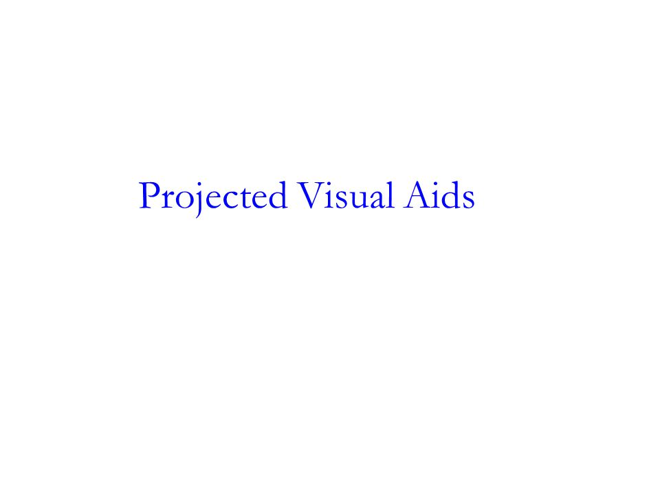 Projected Visual Aids