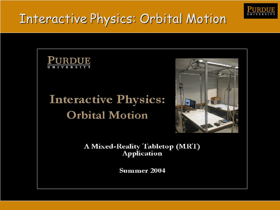 Interactive Physics: Orbital Motion