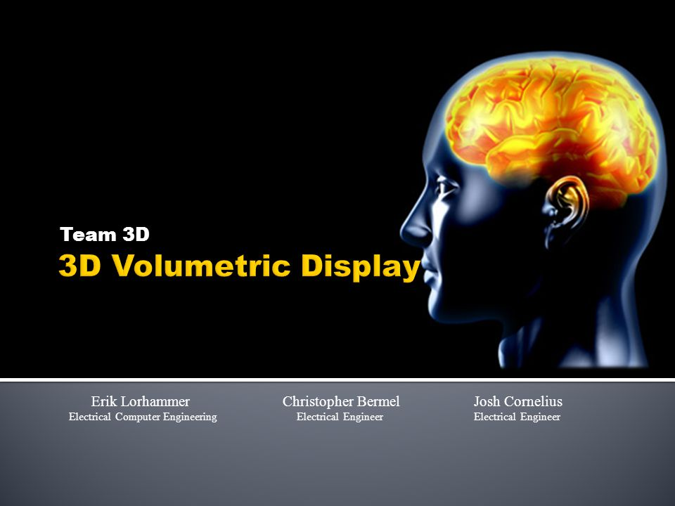 Objectives  3D Volumetric Display  System will load pictures from an external memory source to main memory and send pictures to projector in a specified order.