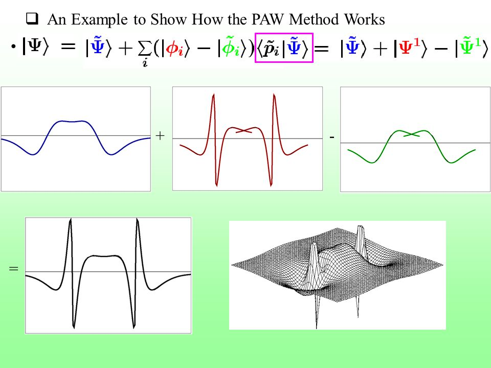 An Example to Show How the PAW Method Works +- =