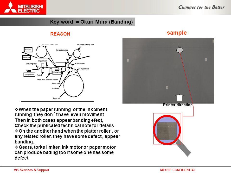 DPS photo systems architecture Company confidential Key word = Okuri Mura (Banding) VIS Services & SupportMEUSP CONFIDENTIAL Printer direction REASON