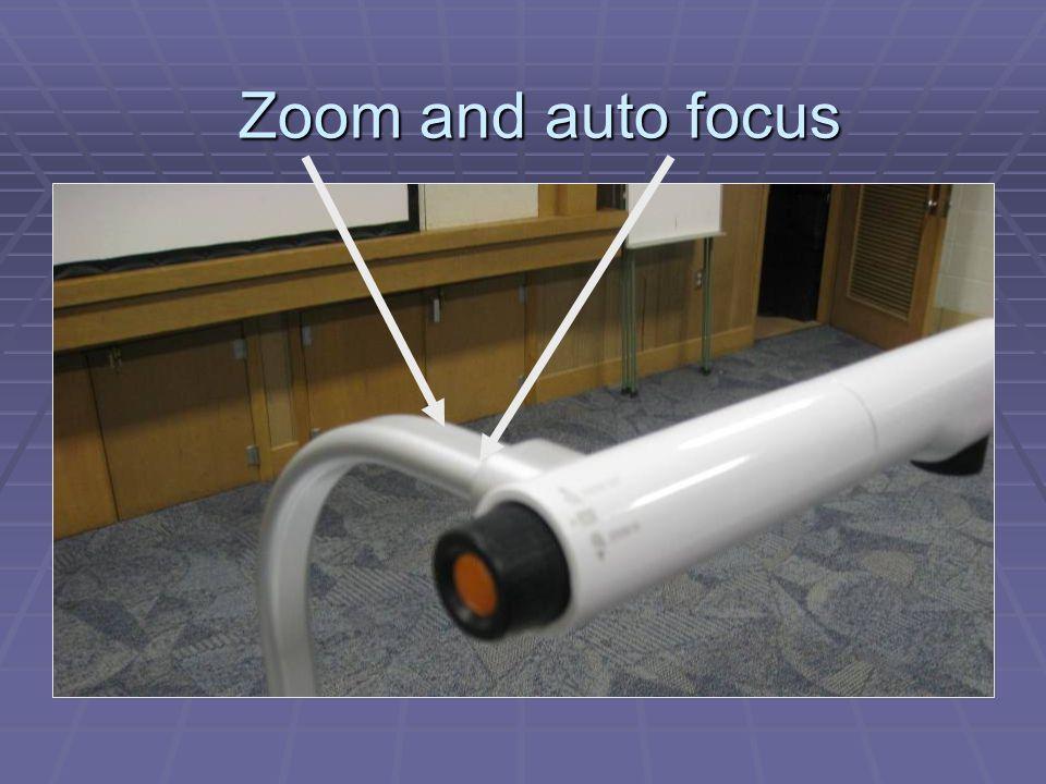 Focus Zoom Zoom and auto focus