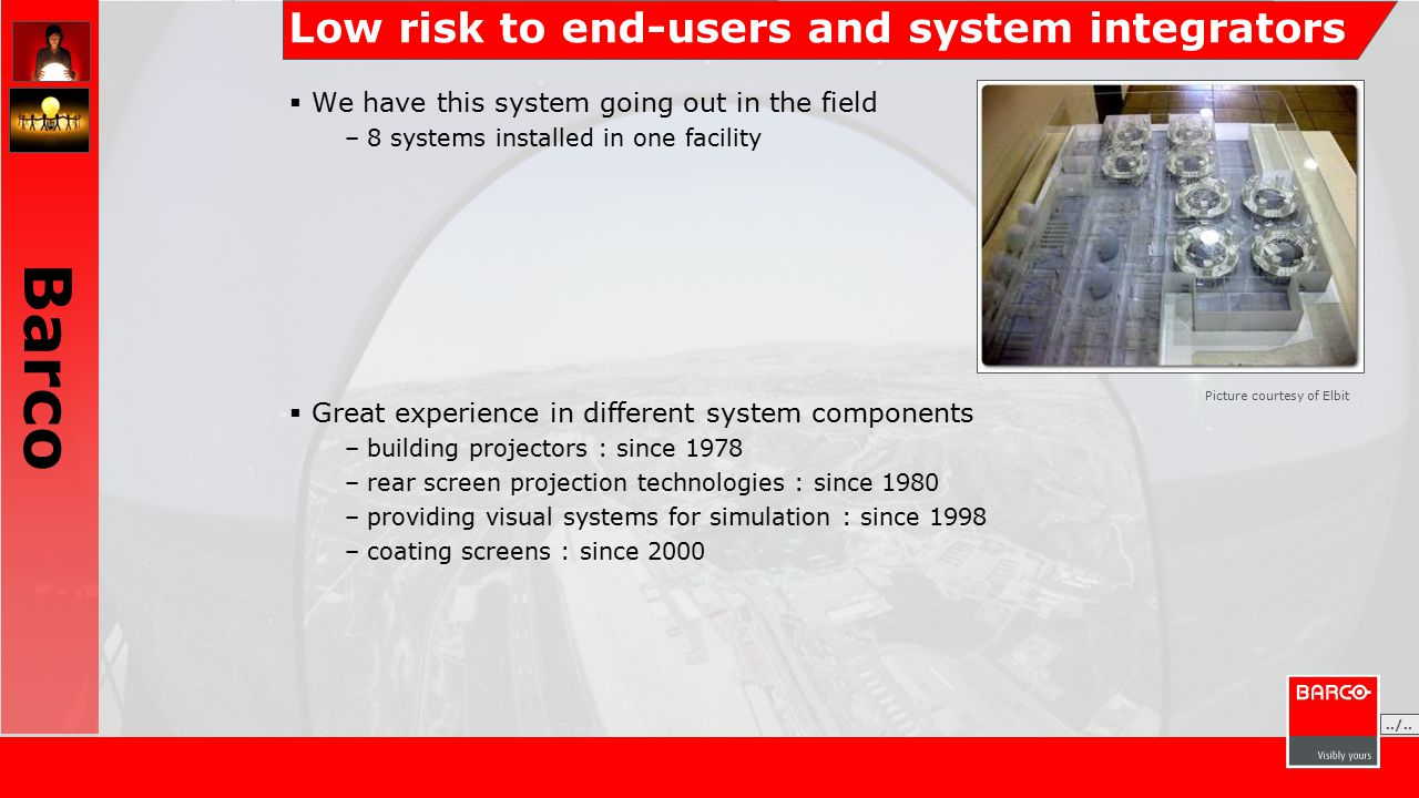 Low risk to end-users and system integrators  We have this system going out in the field –8 systems installed in one facility  Great experience in d