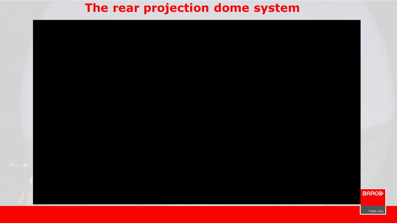 The rear projection dome system