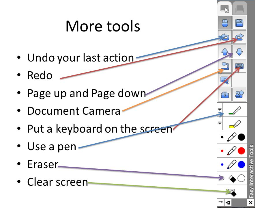 Tasks: check each task you accomplish 1.Put the easy interactive tools in your task bar 2.Open the tool bar from the task bar.