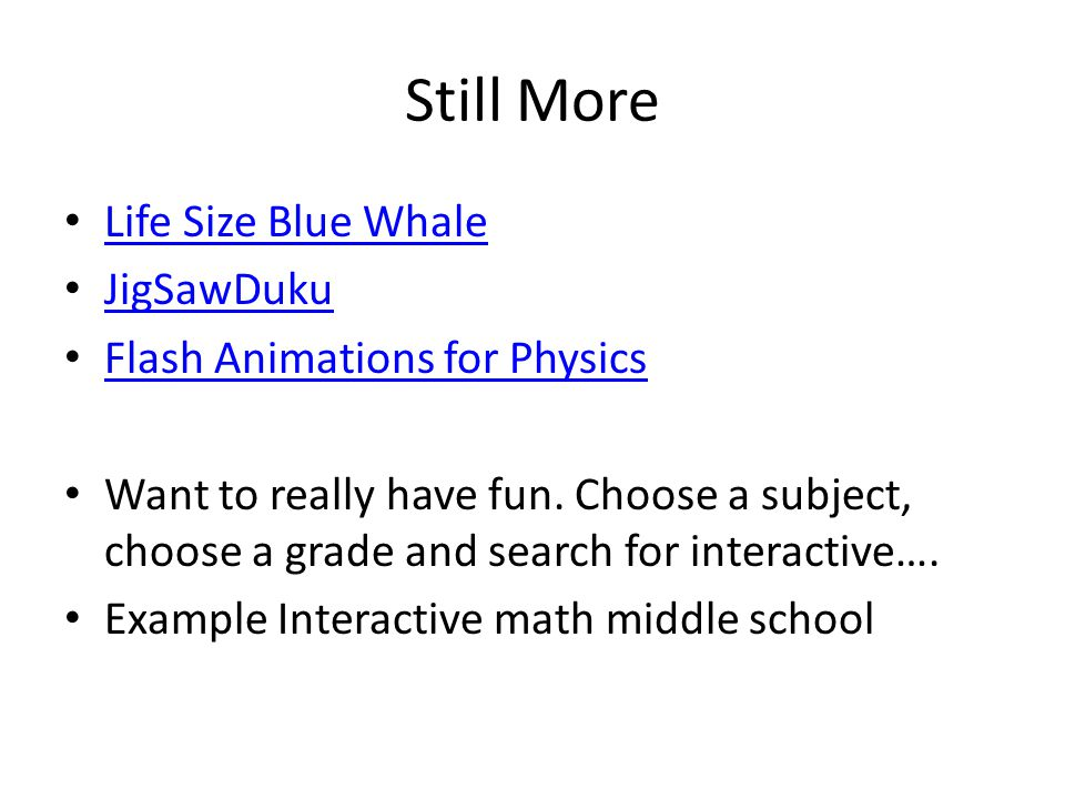 Still More Life Size Blue Whale JigSawDuku Flash Animations for Physics Want to really have fun.