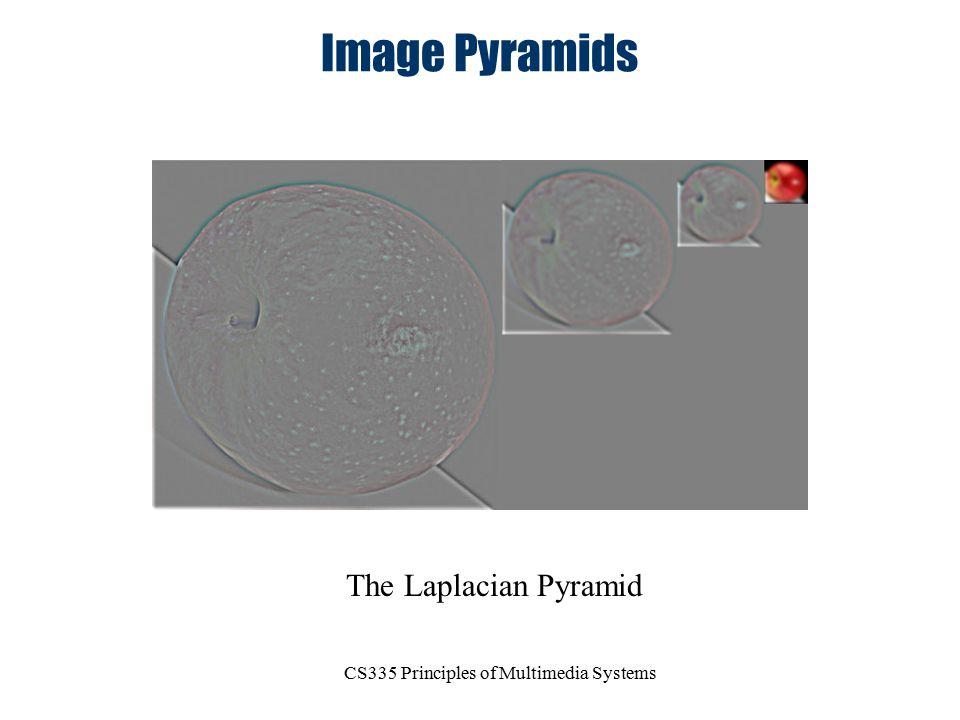 CS335 Principles of Multimedia Systems Image Pyramids The Laplacian Pyramid