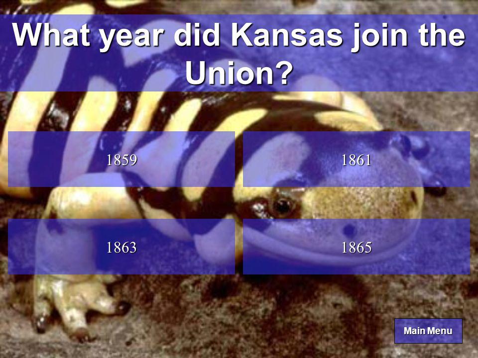 Main Menu Main Menu Katydid What is the Kansas state insect.