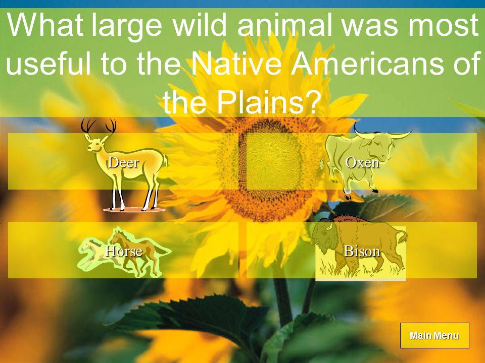 Main Menu Main Menu What is the Kansas state animal.