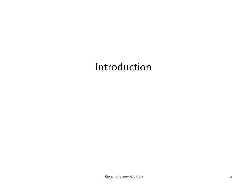 Introduction keystone correction 3
