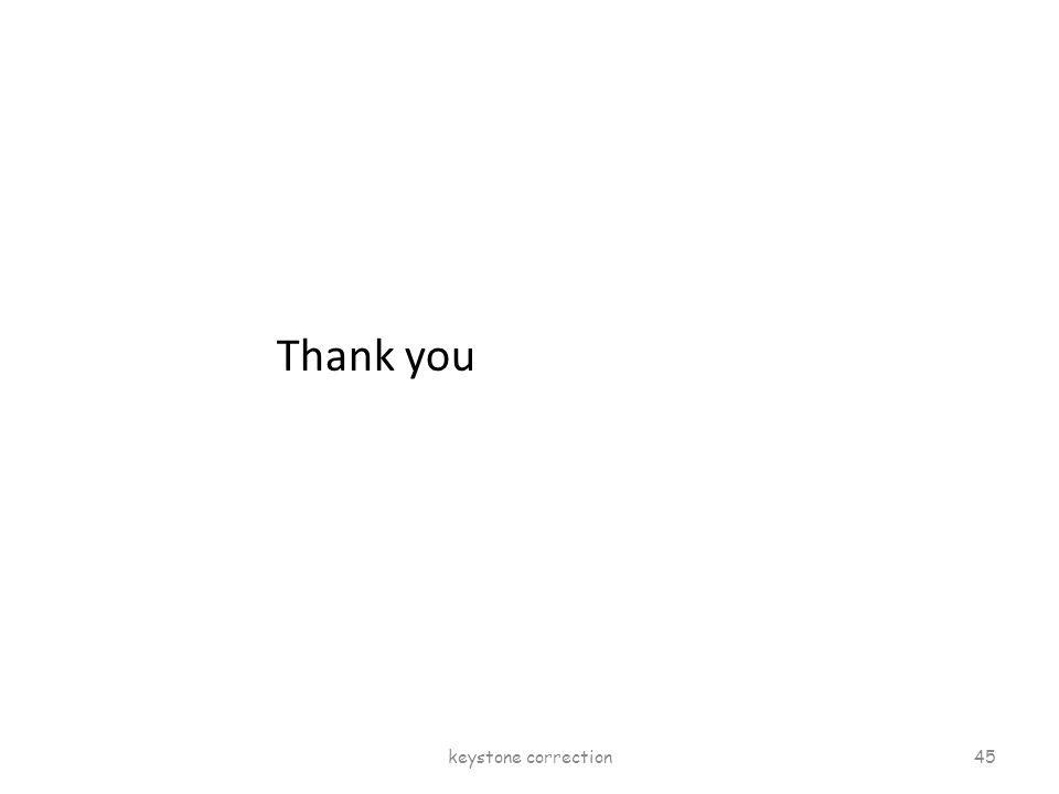 Thank you keystone correction 45