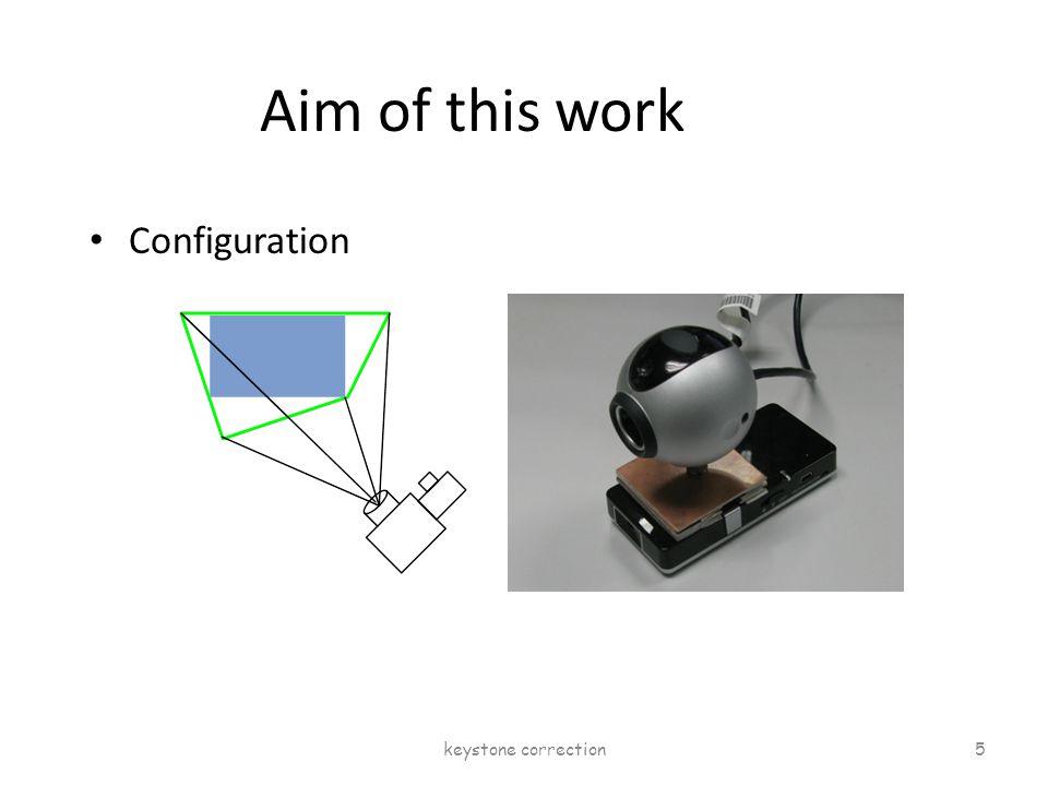 Aim of this work Configuration keystone correction 5