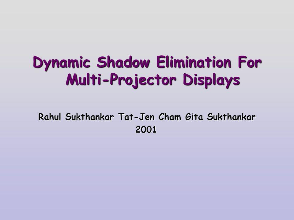 Dynamic Shadow Elimination For Multi-Projector Displays Rahul Sukthankar Tat-Jen Cham Gita Sukthankar 2001