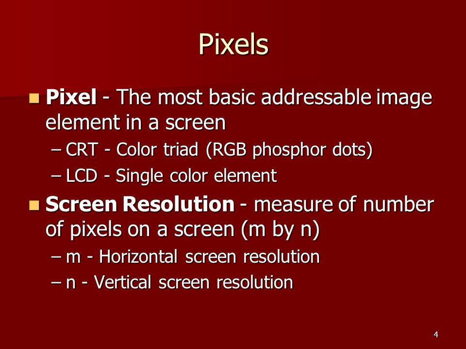 25 Transmittive Projectors LCD Based LCD Based –Use a bright light to illuminate an LCD panel, and a lens projects the image formed by the LCD onto a screen.