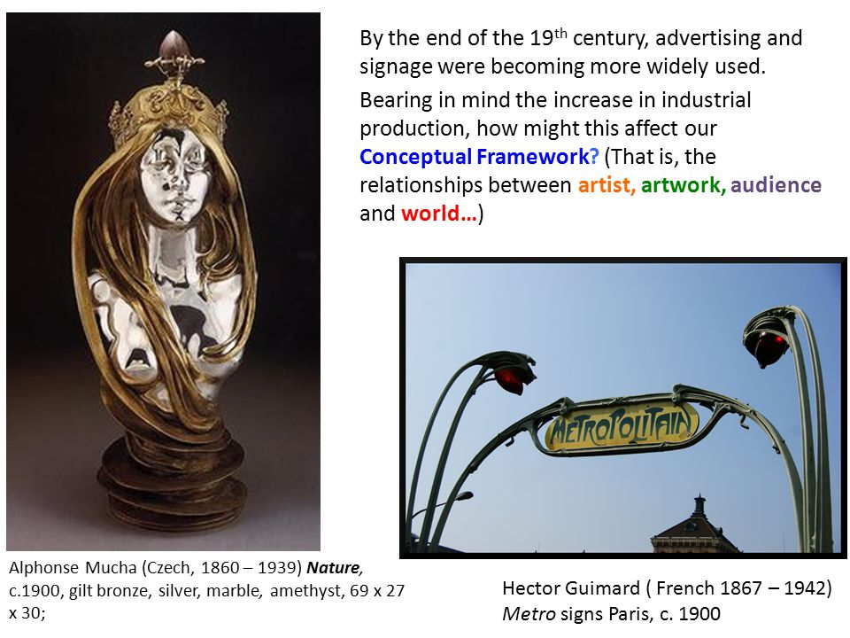 By the end of the 19 th century, advertising and signage were becoming more widely used. Bearing in mind the increase in industrial production, how mi