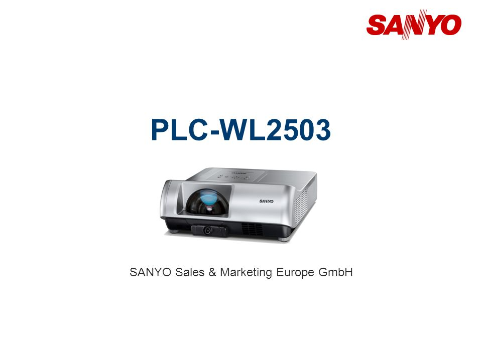 PLC-WL2503 SANYO Sales & Marketing Europe GmbH