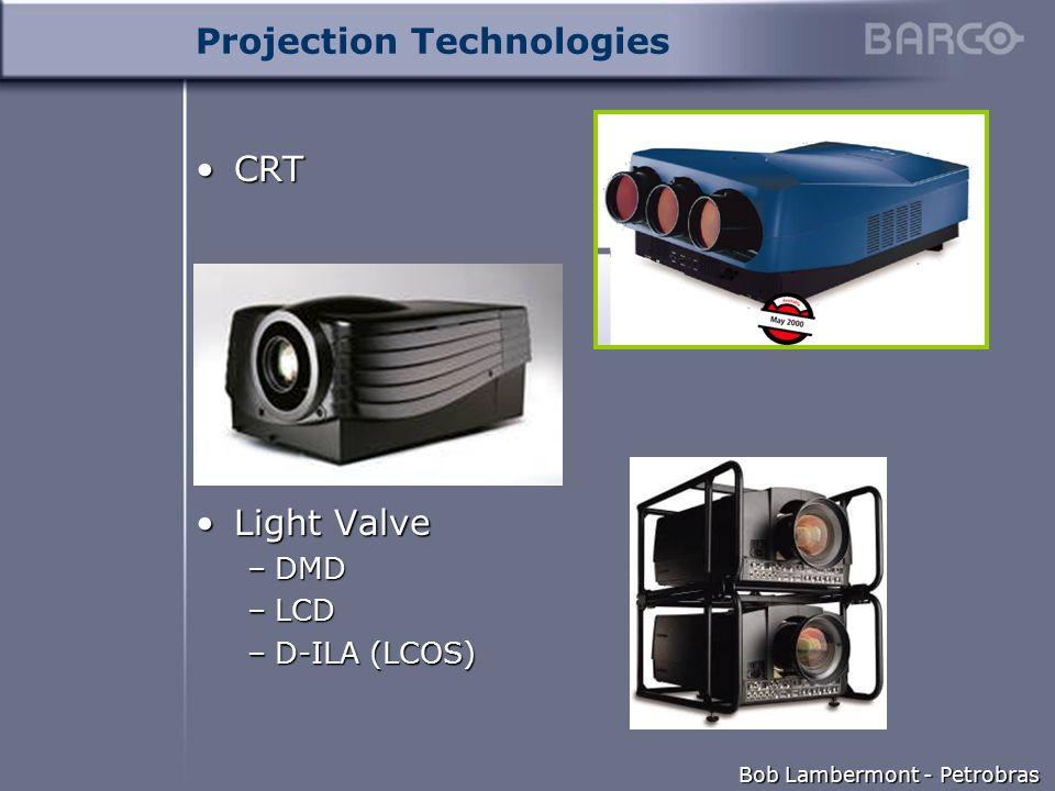 Bob Lambermont - Petrobras Projection Technologies CRTCRT Light ValveLight Valve –DMD –LCD –D-ILA (LCOS)