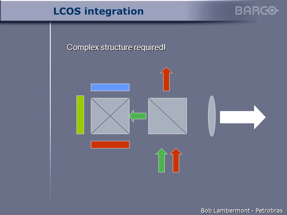 Bob Lambermont - Petrobras LCOS integration Complex structure required!