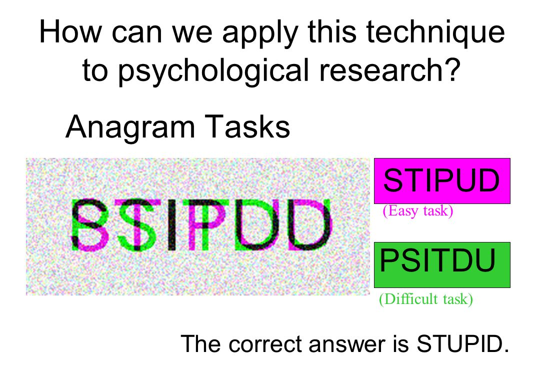 STIPUD (Easy task) The correct answer is STUPID.