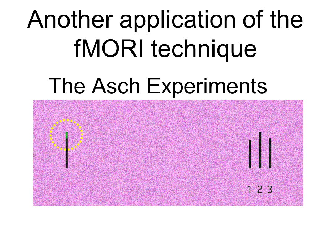 The Asch Experiments Another application of the fMORI technique