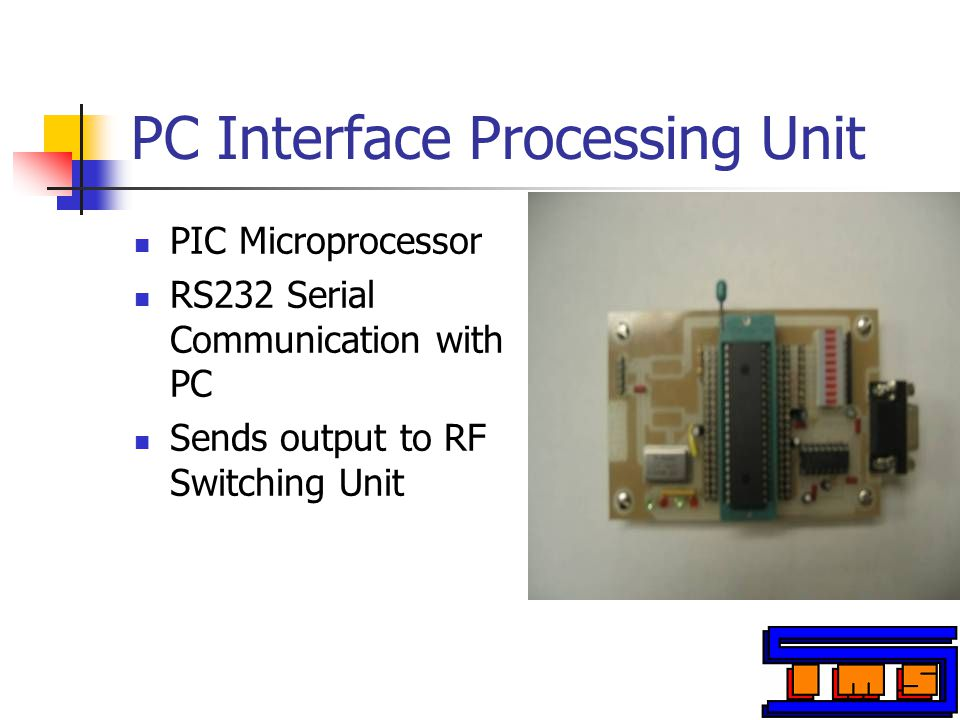 PC Interface Processing Unit (Schematic) Black will have better contrast on a projector