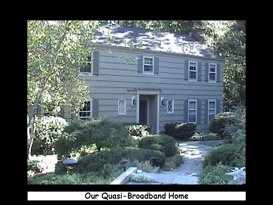 Our Quasi-Broadband Home