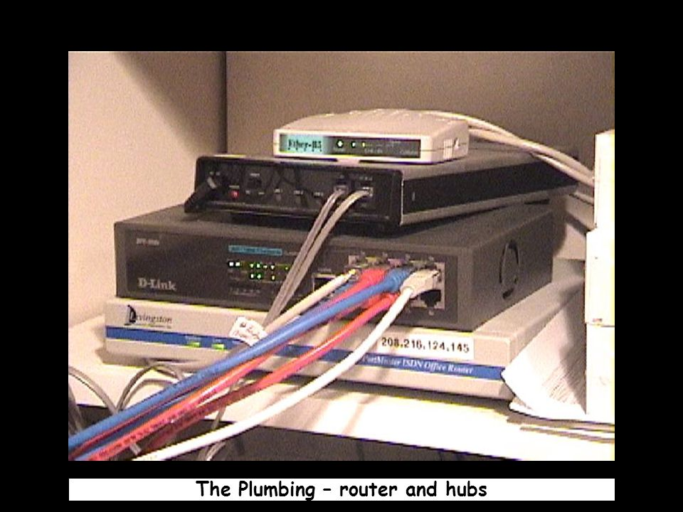 The Plumbing – router and hubs
