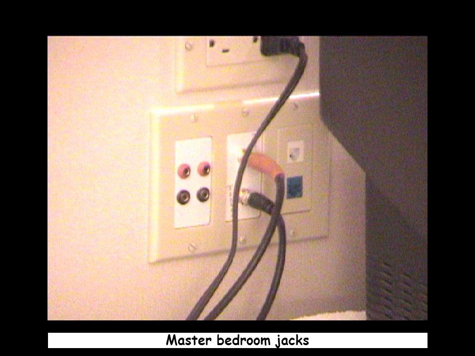 Master bedroom jacks