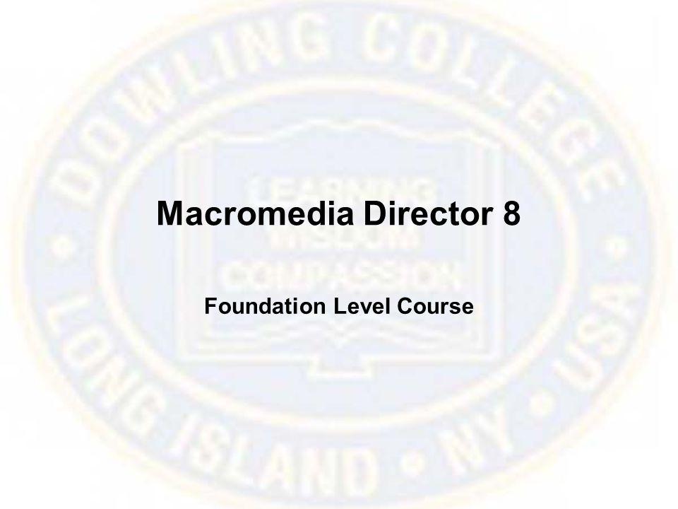 Macromedia Director 8 Foundation Level Course