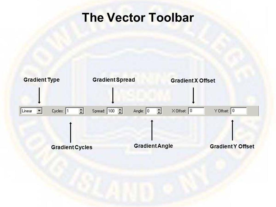 The Vector Toolbar Gradient Type Gradient Cycles Gradient Spread Gradient Angle Gradient X Offset Gradient Y Offset