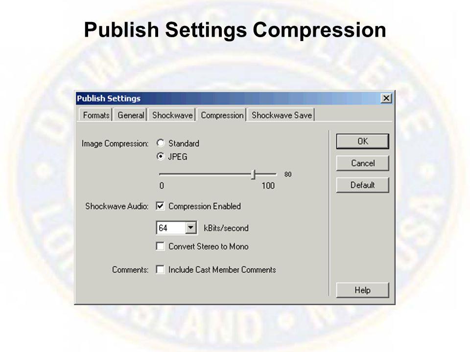 Publish Settings Compression