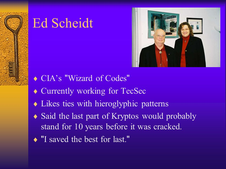 Ed Scheidt  CIA's