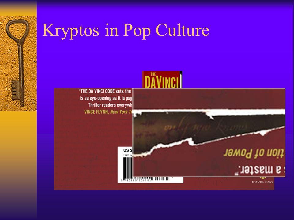 Kryptos in Pop Culture