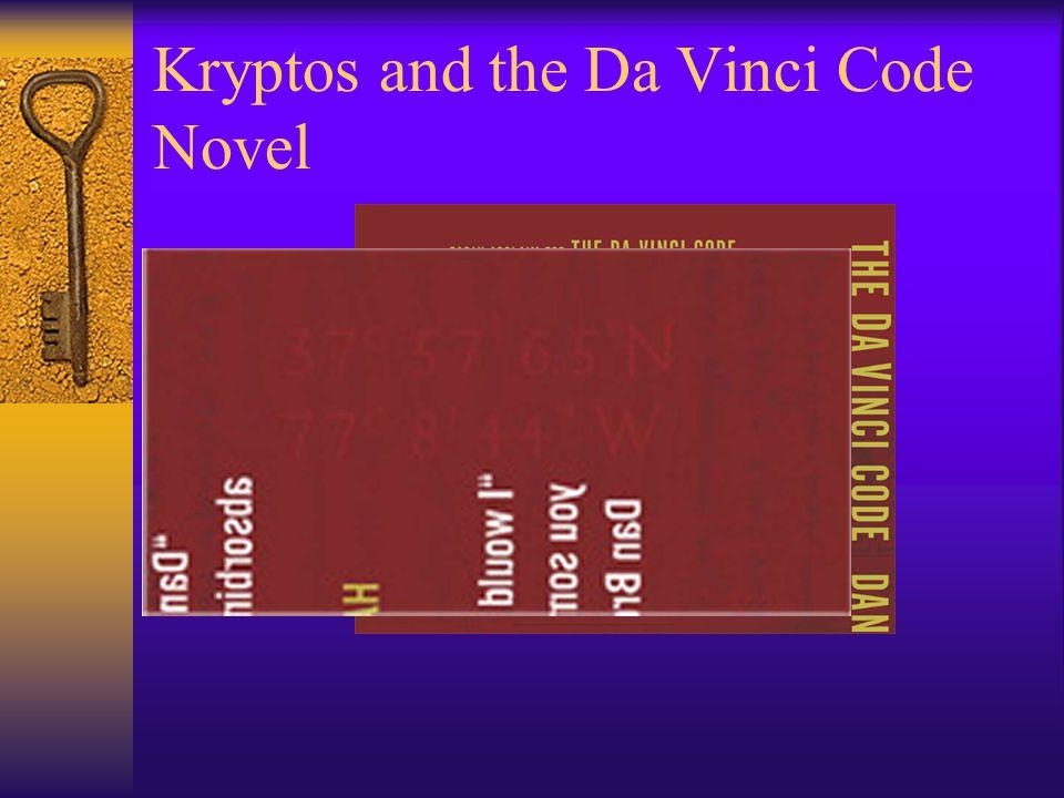 Kryptos and the Da Vinci Code Novel