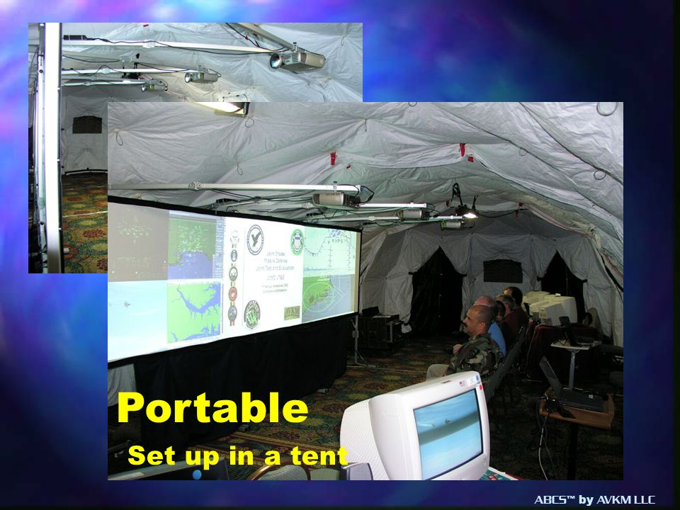 Portable Set up in a tent ABCS™ by AVKM LLC