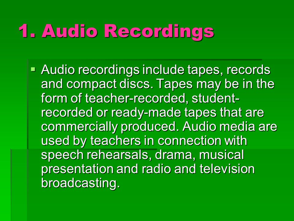 Advantages  Improve listening skill  Easy to operate  Safe way of storing information  Can be used for big or small groups  Best used to improve speech skills  Lessen distraction when used with headphones